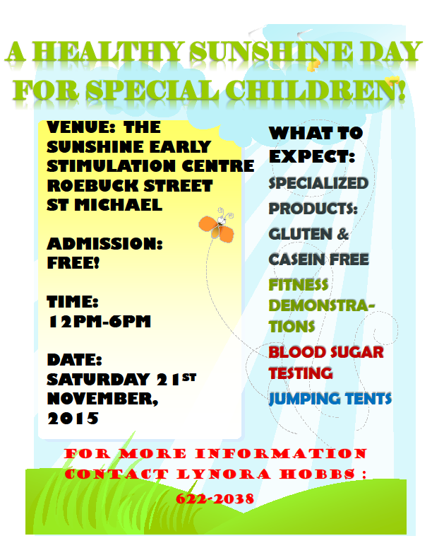 Healthy Sunshine Day Event – November 21st